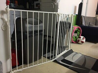 BabyDan Hearth Gate//Room Divider Extra Large, 90-278cm, Black