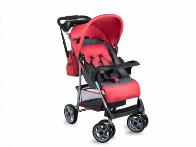 BABY STROLLER KIDS BUGGY PUSHCHAIR WITH BAG & ORGANISER LIONELO EMMA RED