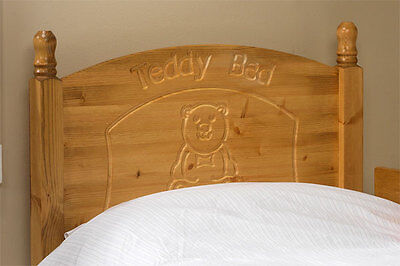 Solid Antique Pine 3Ft Teddy Headboard To Fit A Divan Bed Match  Any Furniture