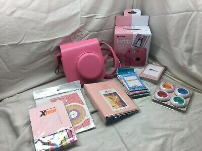 Fujifilm Instax Mini 9 Instant Camera + 20 Fuji Film Sheets + Accessory Bundle