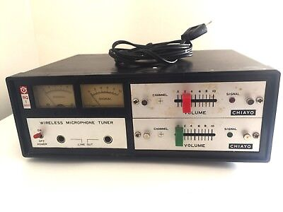 Chiayo Electronics RQ-300 Vintage Wireless Receiver & 2 Microphone Transmitter