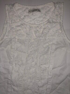40c4bf8819084 Abercrombie   Fitch Laced Tank Top Size XS Lace High Circle Neck Top