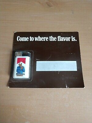 Marlboro Cigarettes White Disposable Lighter Standing Cowboy New on Blister card