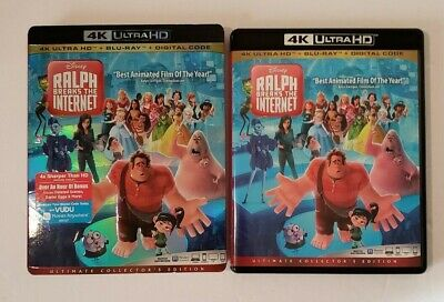 Ralph Breaks the Internet 4K ultra and blu-ray with Slipcover ,NO DIGITAL CODE