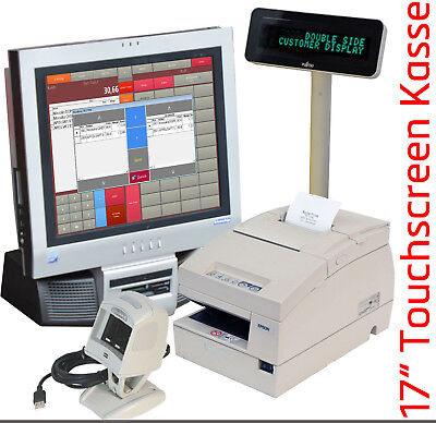 "Till Register System F Bistro Imbis Dealer 17 "" 43cm Touchscreen Printer KA40 MM"