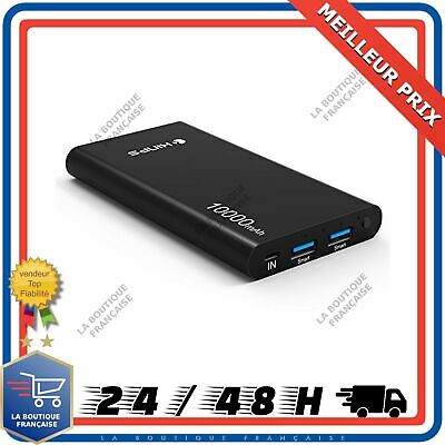 Batterie Externe 10000mAh LCD USB Chargeur Rapide Universel Power Bank Secours