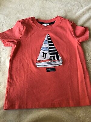 JANIE AND JACK Coastal Club Sailboat Tee Shirt Top Size 2T