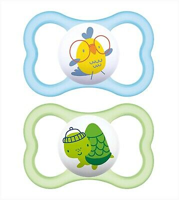 MAM 6+ Months Air Collection For Sensitive Skin Baby Pacifier 2-Count Darling!!