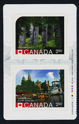 Canada 2744a Left Booklet Pane MNH UNESCO World Heritage Sites, Rideau Canal