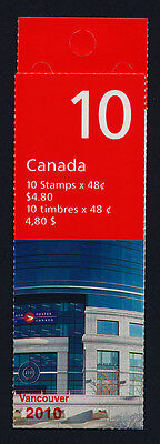 Canada 1991a Booklet BK251Aii MNH Flag over Post Office HQ, Vancouver 2010 o/p