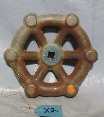 Vintage Industrial Machine Age Decor Water  Valve Handle Steampunk Art used