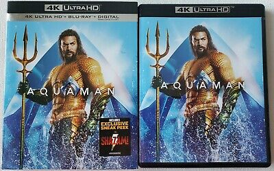 Dc Aquaman 4K Ultra Hd Blu Ray 2 Disc And Slipcover Sleeve Free World Shipping