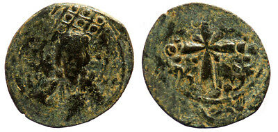 Byzantine Nicephorus III Class I Anonymous Follis Overstruck at Michael VII Foll