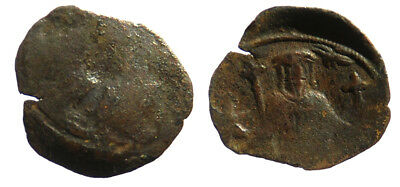 Byzantine Andronicus II Palaeologus Trachy Thessalonica mint Hand of God SB 2373