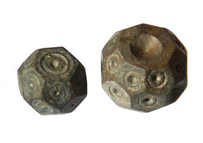 Lot of 2 Islamic Weights 5 and 10 Dircham 8-10 century AD