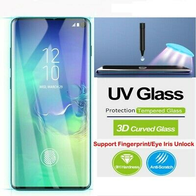 For Samsung Galaxy S10 S10+ Plus Full UV 9H Tempered Glass Screen Protector CA