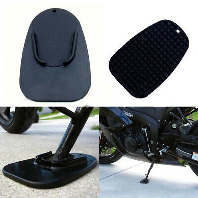 Useful Motorcycle Kickstand Pad Support Black Soft Ground Outdoor Parking Solid