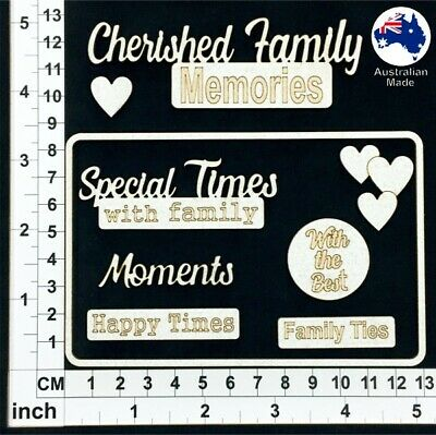 Cardmaking Chipboard Embellishments for Scrapbooking Assorted Words 166088w