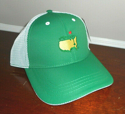 d9117bbb3b9 Masters Hat Golf Performance Cap Adjustable GREEN   WHITE Augusta National  Flag
