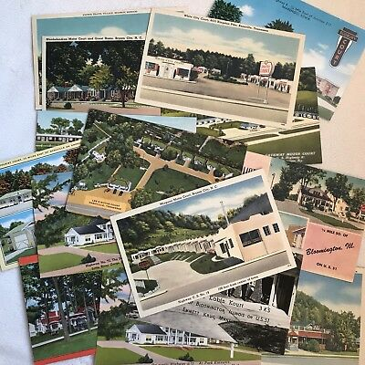 Original Vintage Post Cards Travel 1950s Unposted Lot Of 16