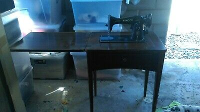 """Antique """"singer"""" Sewing Machine With Table"""