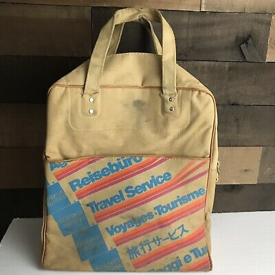 Vintage 70s American Express Travel Service Agent Carry On Luggage Airline Bag