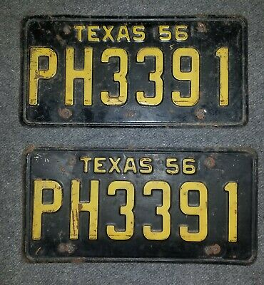 TEXAS 1956 LICENSE Plate Personalized Custom Auto Car Bike Moped