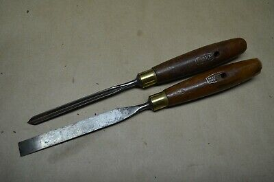 2 x MARPLES CARVING CHISELS, ENGLAND,