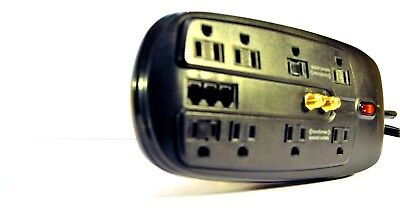 DYNEX  PC & Home  Theater Surge Protector 8 Outlets Coaxial Ships FAST