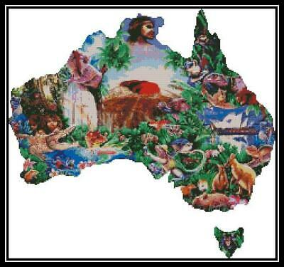Australiana - Cross Stitch Chart/Pattern/Design/XStitch