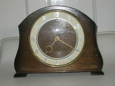 Vintage Smiths 8 Day Mantle Clock - 4 Jewel - Wind Up
