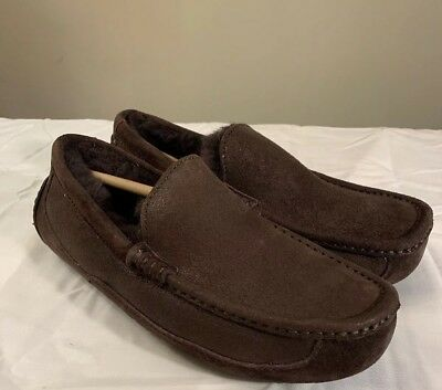 5bf3649051a Ugg Ascot Bomber 1008391 Sz 8 Mens Slippers Authentic Chocolate Brown New