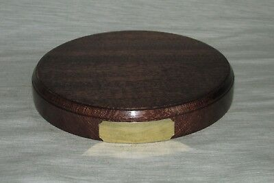 Engraved Hardwood Display Plinths Bases Stands Solid Mahogany Oak Wood all Sizes