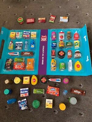 COLES Little Shop Mini Collectables - Complete Set with Case + full Christmas se