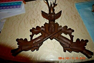 Vintage cuckoo clock Topper with Large Deer head with Antlers for project