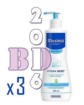 3x Gentle Cleansing Gel Mustela Baby Skin Hair Body Cleanser Hypoallerg. 500ml_1