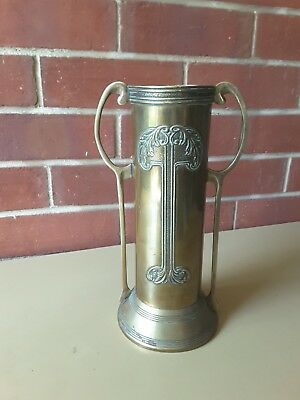 ANTIQUE ART NOUVEAU   BRASS Vase  URN  Patina Beldray England