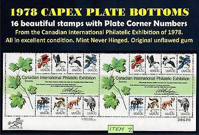 Scott 1757 PLATE BLOCK Double Capex 1978 Sheet Bottom 16 Unused Stamps MNH /2