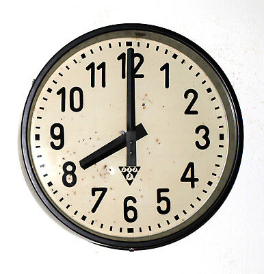 black Metal wall clock PRAGOTRON - Factory Railway School - vintage retro loft
