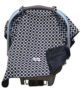Padalily Infant Car Seat Canopy Cover Blanket, Ring Black NEW NIP