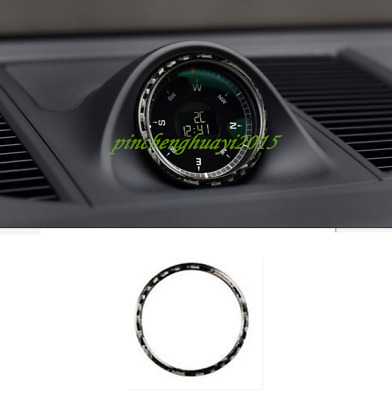Real Carbon Fiber Clock Decorative Circle Trim For Porsche Macan 2015-2018