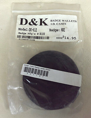 D&K CUTOUT BADGE HOLDER for SHIELD DK-612 police fire