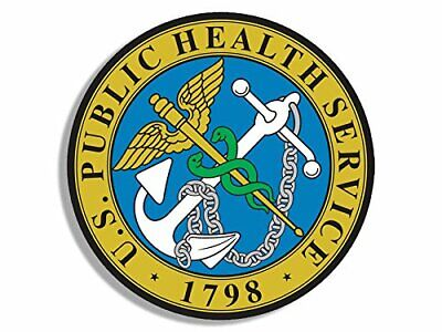 4x4 inch Round US Public Health Service Seal Sticker (Safety phs Logo)