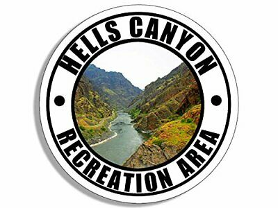 4x4 inch Round Hells Canyon Recreation Area Sticker (rv Oregon Idaho)