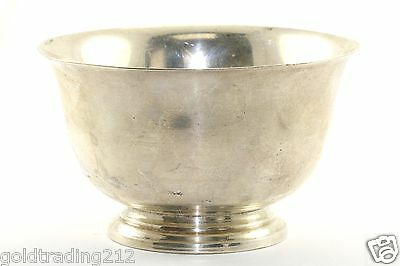 Vtg 925 Sterling Silver Bowl Dish by Paul Revere 1768, 109 grams