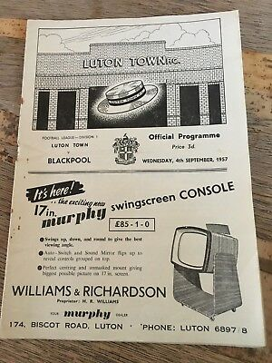 Luton Town Home Programmes 1950s and 1960s choose from list