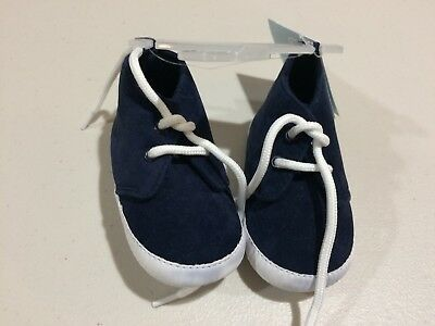 NWT Gymboree Baby Boy Crib Shoes Sz 01//02 RACCOON Navy Blue Knit Boots
