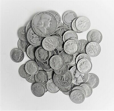 90% Silver 1/2+ Ounce U.S. Coins Half,Quarters or Dimes-See Shipping Discount
