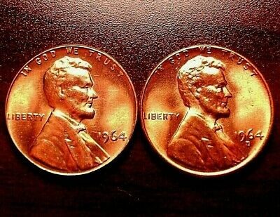 1964 p&d LINCOLN CENT BU RED + BONUS COIN YOUR CHOICE EMAIL ME*** READ BELOW