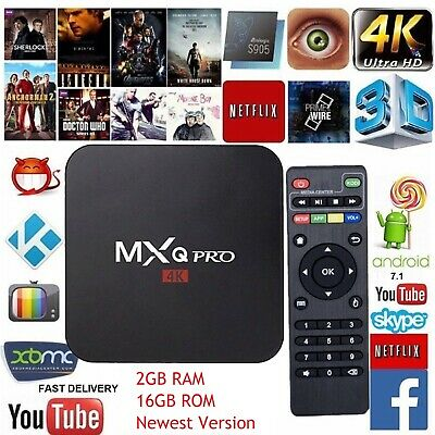MXQ PRO TV Box Media Player 4K Android 7.1 Kd 18.0 Amlogic S905W 2G+16G Wifi CA